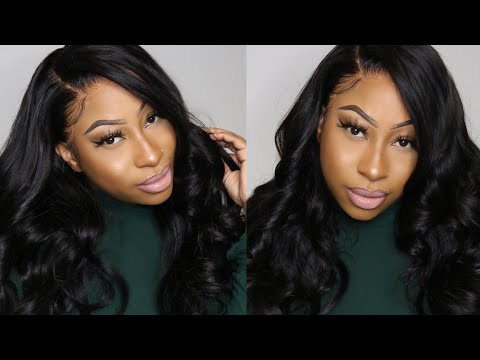 BEST AFFORDABLE AMAZON HAIR WIG!   150% Density Body Wave Lace Front Wig