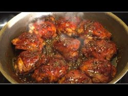 Honey Garlic Glazed Chicken Thigh