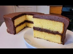 How to make Yellow Butter Cake with Chocolate Frosting