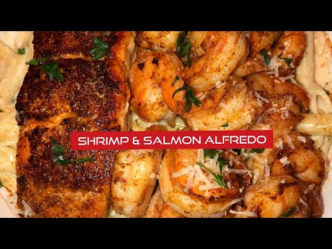 Shrimp and Salmon Alfredo Ever by Chef Bae