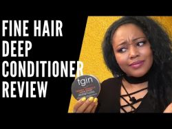 TGIN Deep Conditioner Review on Fine Natural Hair