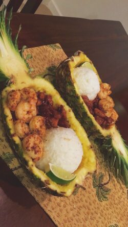 shrimp pineapple