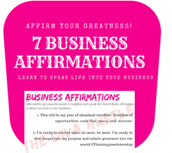 Business Affirmation: Speak life into your business.