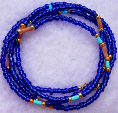 Heart at Peace Incensed African Waist Beads by soumahstore on Etsy