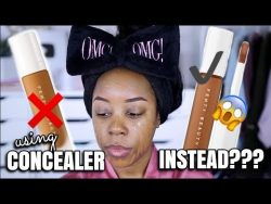 I USED THE FENTY CONCEALER AS FOUNDATION AND THIS IS WHAT HAPPENED… | FULL TUTORIAL | Andr ...