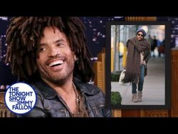 Lenny Kravitz Reacts to His Giant Scarf Meme | The Tonight Show Starring Jimmy Fallon