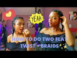 HOW TO DO TWO FLAT TWIST + BRAIDS | Hairstyle n°9