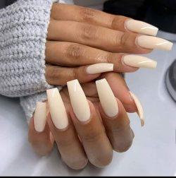 Light Beige Nails