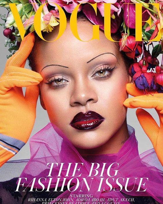 Rihanna for Vogue #rihanna #skinnybrows