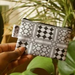 Black and White Cross Pattern Coin Purse Handmade Ankara African Print – Unique Limited Ed ...