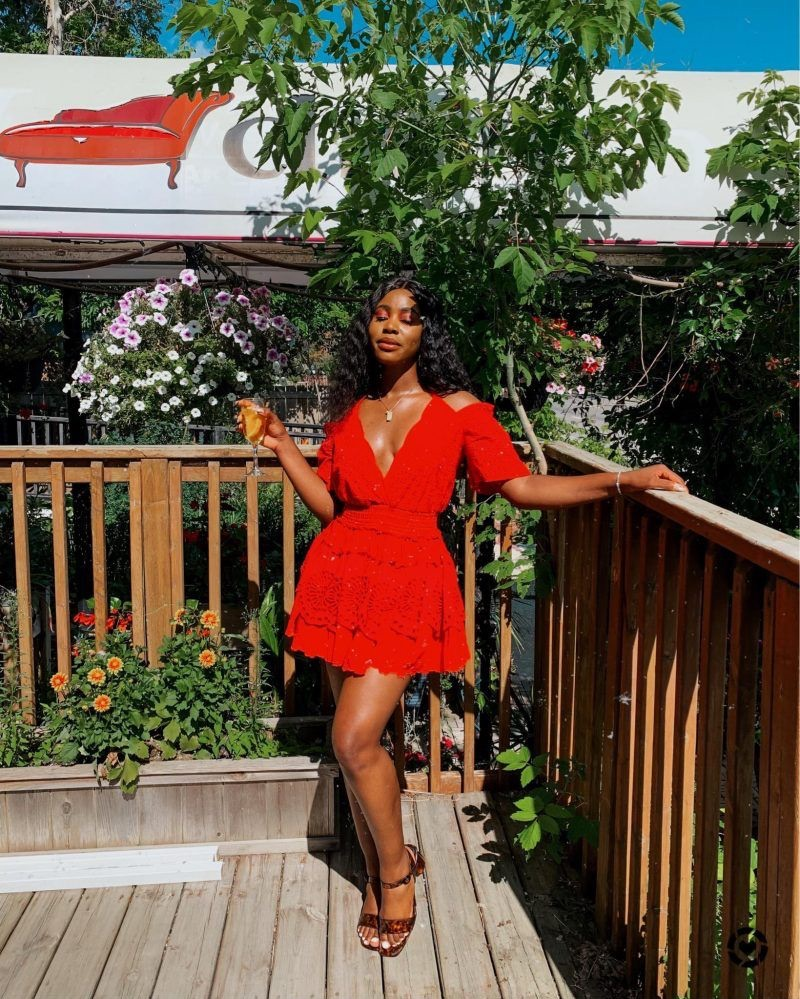 Vacation with a Red Dress