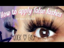 HOW TO APPLY FALSE LASHES FOR BEGINNERS | Quick & Easy ? – YouTube