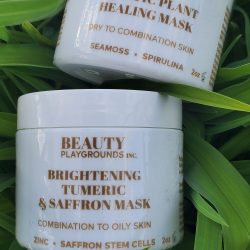 TUMERIC AND SAFFRON MASK by BEAUTY PLAYGROUNDS SKIN. A black- owned canadian skincare line.