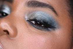 Metallic Silver Smokey Eye Makeup
