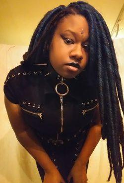 Black goth girl.