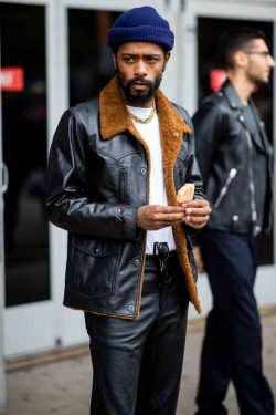 Lakeith Stanfield's Hip-Grazing Coat