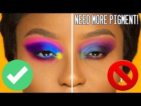 Make eyeshadows POP on ANY skintone | PhD in PIGMENT! – YouTube
