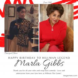 HAPPY BIRTHDAY MARLA GIBBS!!!