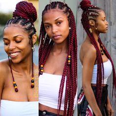 Gorg red braids