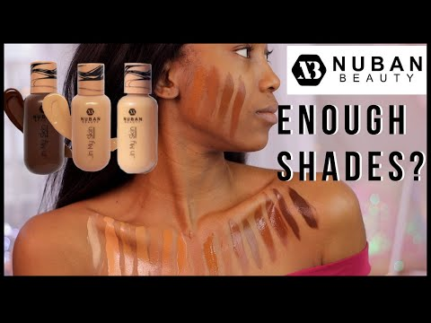 """Nuban Beauty """"In My Skin"""" Foundation Swatches and Review 
