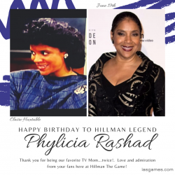 HAPPY BIRTHDAY PHYLICIA RASHAD from HILLMAN THE GAME