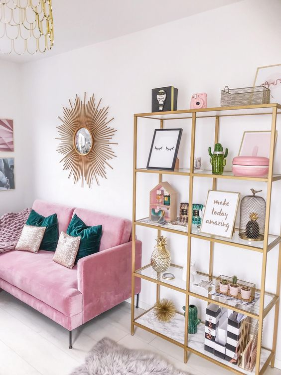 pink, gold,