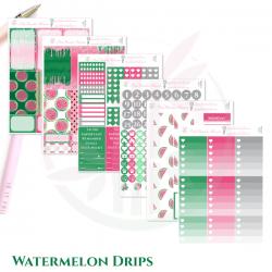 Watermelon Drips Weekly Sticker Kit