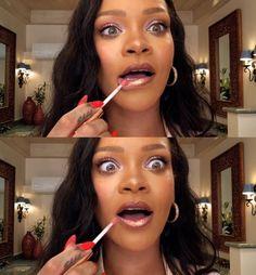 that lipgloss!! :O rihanna – makeup