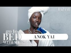 Top Model Anok Yai's Nighttime Skincare Routine | Go To Bed With Me | Harper's BAZAA ...