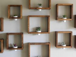 Wooden Wall Planter! Perfect gift for any occasion! This petite wall planter will brighten up an ...