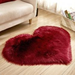 Our Fuzzy Love Hearts Rug. Available in several colors!