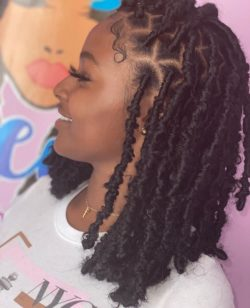 Distressed faux locs