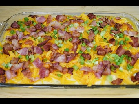 Cheddar Cheese and Bacon loaded Mashed potatoes 🥔