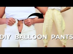 DIY Balloon Pants with Ankle Ties Upcycle | Make Pants Bigger