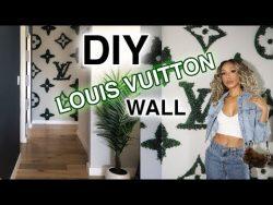 DIY LOUIS VUITTON WALL