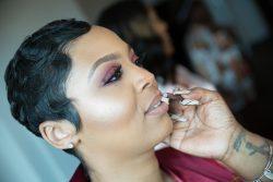 Fall Wedding 🍁 👰🏽🤴🏽💍 Colors: Burgundy & Blush #FallWedding #BlackLove #ShortHair #Pixie