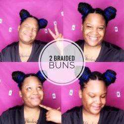 2 Braided Buns