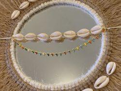 Cowrie shell Anklet Bracelet Choker, Cowrie Boho Jewelry, Summer Bracelt, Beach Jewelry, Festiva ...