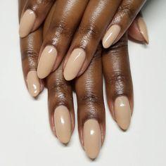 Custom made nude #gelcolor for my boo @s_evangelina. #naturalnails #handpainted #gelpolish #igna ...