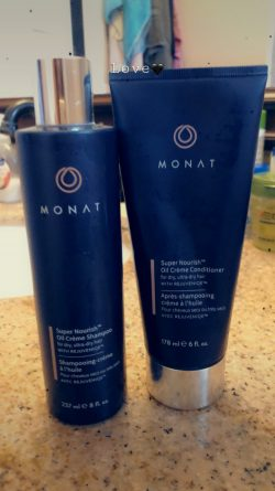 Monat Super Nourish for dry, ultra dry hair.