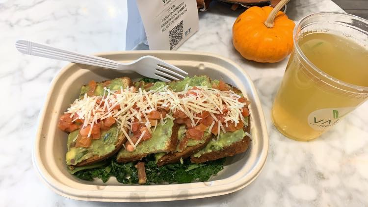 Avocado toast over kale salad ?