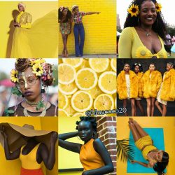 Yellow cause were made by the Sun