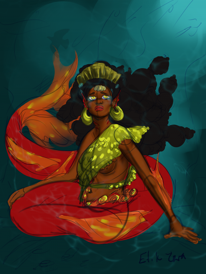 The Mermaid Queen who mourned