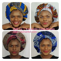Ankara Wax Fabric Bonnets