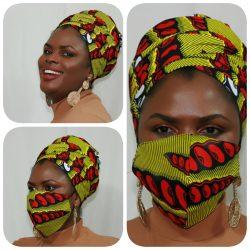 Kente Headwraps and Face Masks