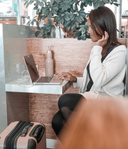 Remote Work Between Destination at the Amsterdam Airport | Brittany New