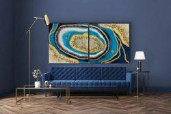 Geode Inspired Art Piece by @tntdesignsoc