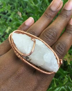 Two-Ring Arkansas Mined Quartz Ring by @alanzejewelsllc