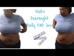 Belly fat overnight| Vicks Vaporub Challenge