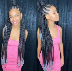 Half Up -Half Down Braids